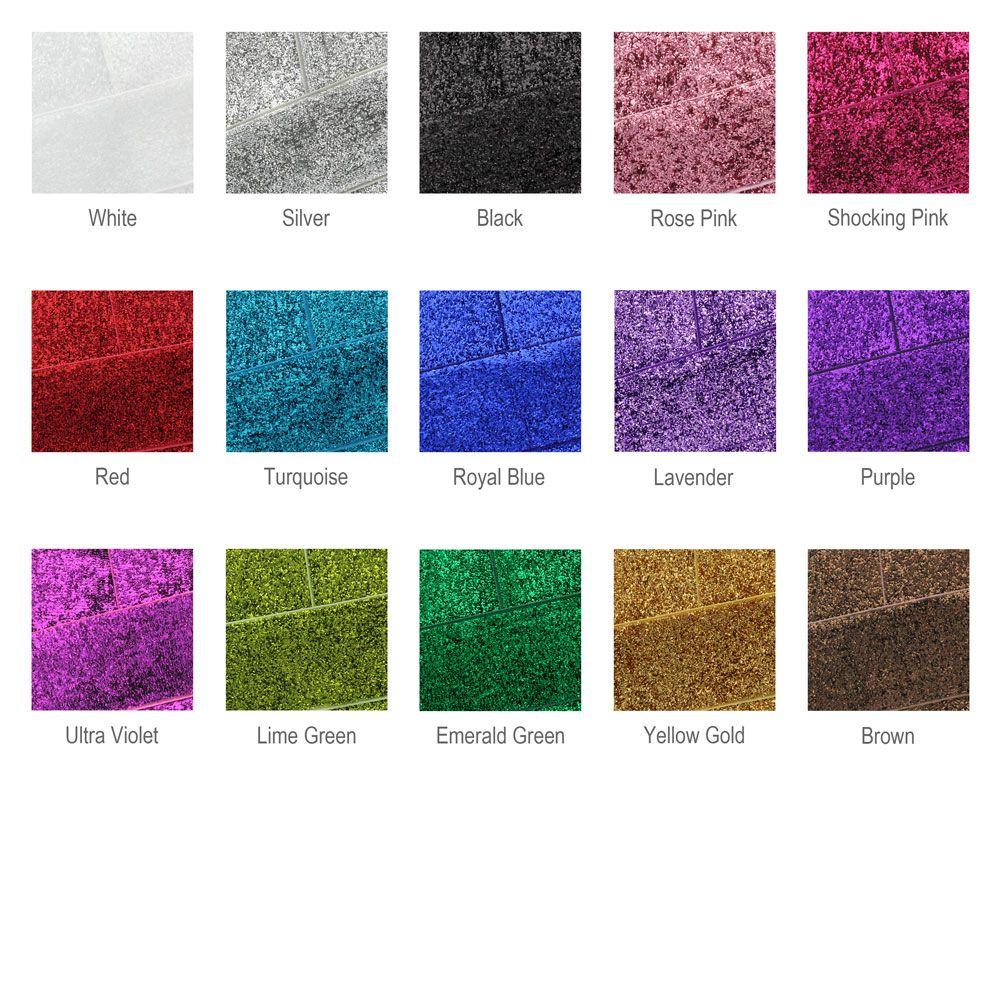 Glitter Ribbon Digital Color Chart