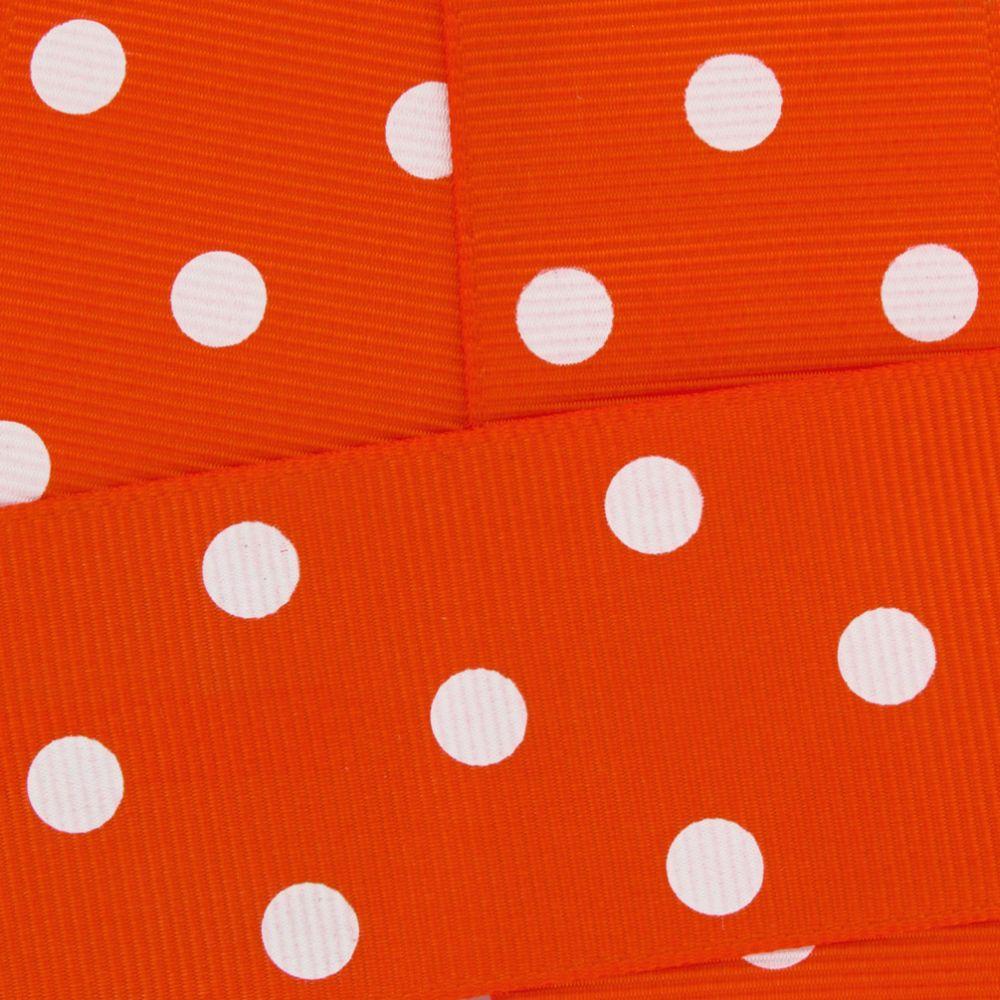 Orange w/ White Dots Grosgrain Ribbon HBC