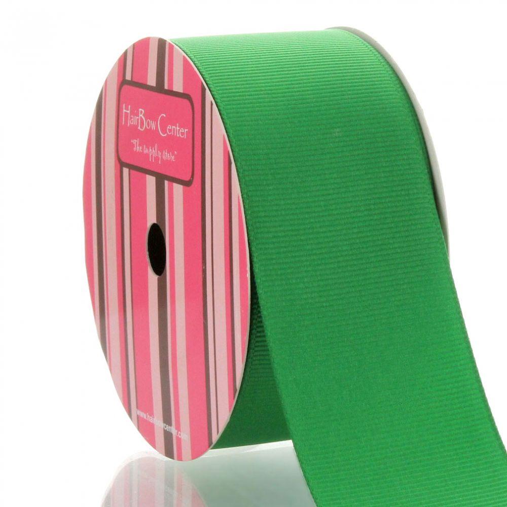 1.5 Grosgrain Ribbon Solid Apple Green