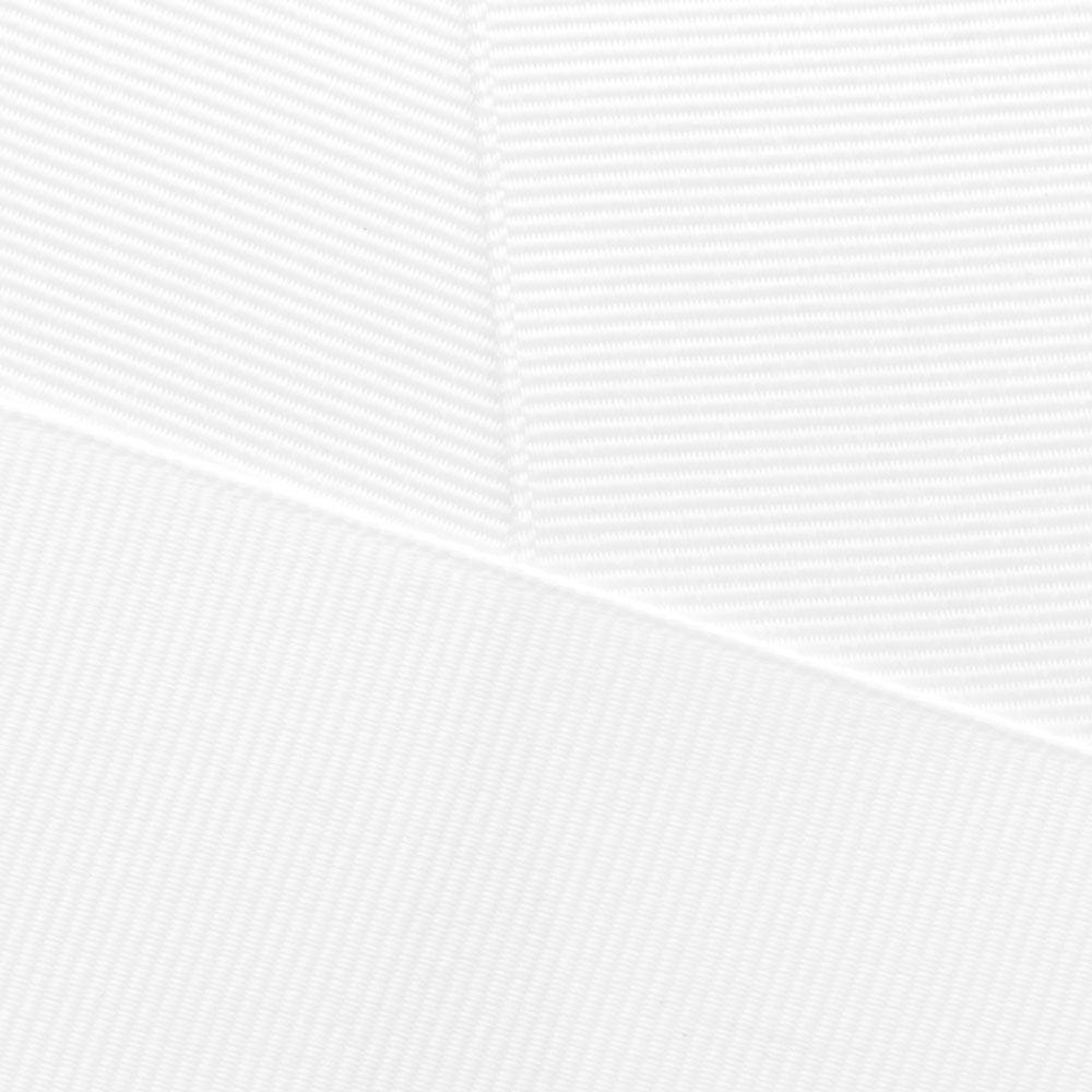 White Grosgrain Ribbon Offray 029
