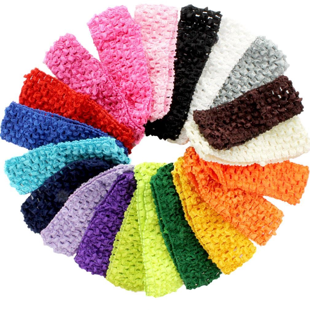 "Hot pink 1.5/"" crochet headband DIY hair bow /& headband crafting supplies"