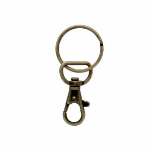 Swivel Lobster Lanyard Key Chain Snap Hook Antique Bronze Single