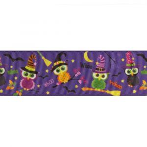"Spooky Bats Witches 7//8/"" Halloween Cartoon Grosgrain Ribbon 22mm"