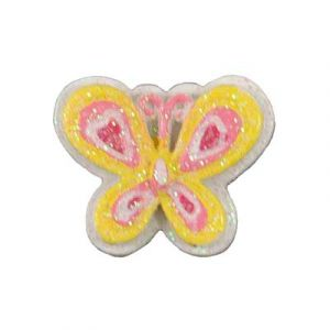 Yellow Butterfly Flatback Resin Embellishment