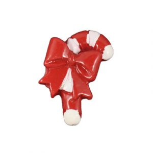 Christmas Candy Cane Flatback Resin Embellishment