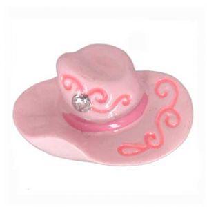 Pink Cowgirl Hat Flatback Resin Embellishment
