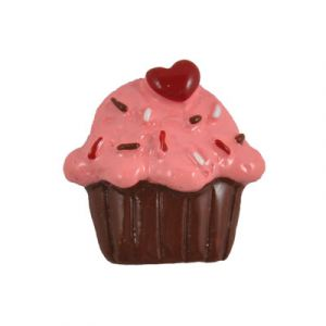 Chocolate Cupcake Flatback Resin Embellishment