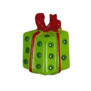 Christmas Red/Green Gift Flatback Resin Embellishment