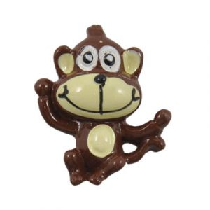 Brown Monkey Flatback Resin Embellishment