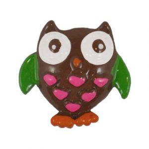 Fall Owl Flatback Resin Embellishment