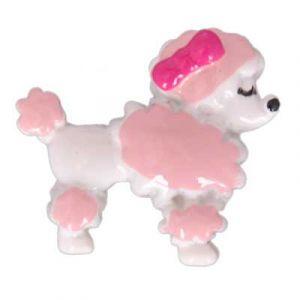 Pink Poodle Flatback Resin Embellishment