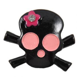 Black Skull Flatback Resin Embellishment