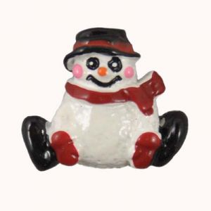 Sitting Snowman Flatback Resin Embellishment