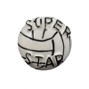 Volleyball Flatback Resin Embellishment