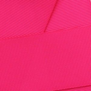 Shocking Pink Grosgrain Ribbon HBC 175