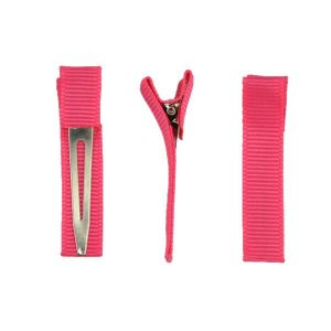 Ribbon-Lined Single Prong Alligator Hair Clips