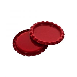 Craft Red Flattened Bottle Caps