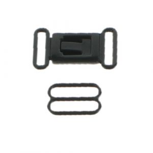 Plastic Adjustable Bow-Tie Clasp Hardware Set Black