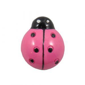 Hot Pink Ladybug Flatback Resin Embellishment