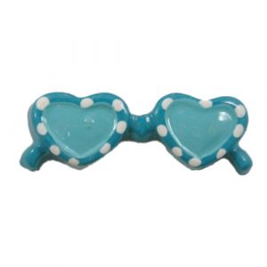 Blue Sunglasses Flatback Resin Embellishment
