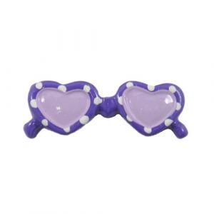 Purple Sunglasses Flatback Resin Embellishment