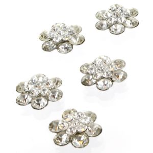 Small Rounded Rhinestone Embellishment Center