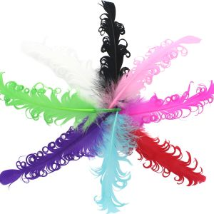 Curly Nagori Goose Feathers
