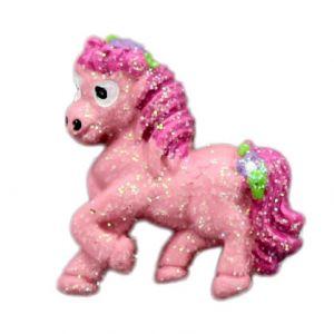 Pink Sparkle Pony Flatback Resin Embellishment