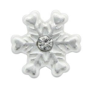 Silver Snowflake Flatback Resins