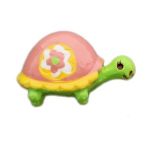 Turtle w/ Daisy Flatback Resin Embellishment