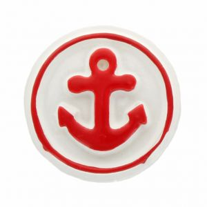 Red Nautical Anchor Flatback Resin Embellishment