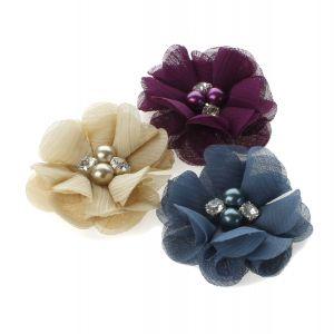Beaded Chiffon Flowers