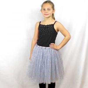 Big Girls Tutu 3-Layer Ballerina Sparkle (4T - 9)