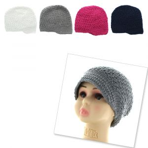 Crochet Newsboy Slouch Beanie Hat - Big Girls