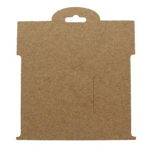 Kraft Brown Paper Hair-Bow Display Cards