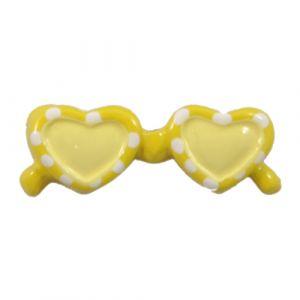 Yellow Sunglasses Flatback Resin Embellishment