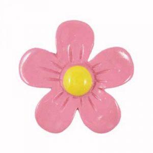 Simple Pink Daisy Flatback Resin Embellishment