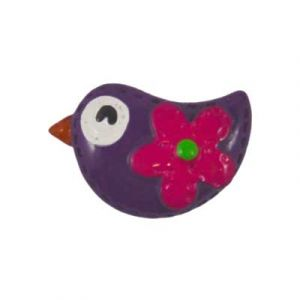 Amethyst Mod Bird Flatback Resin Embellishment
