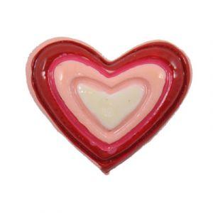 Red/Pink Heart Flatback Resin Embellishment