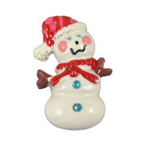Snowman Flatback Resin Embellishment