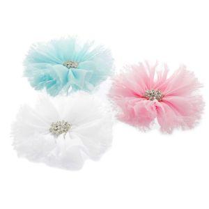 Chiffon Jewel Ballerina Hair Flower