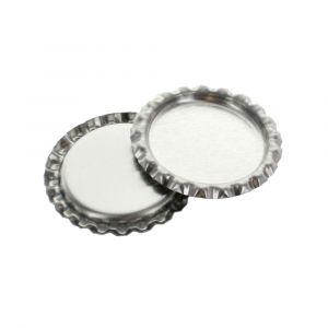 Craft Silver Chrome Flattened Bottle Caps