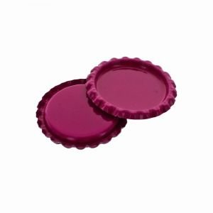 Craft Berry Pink Flattened Bottle Caps