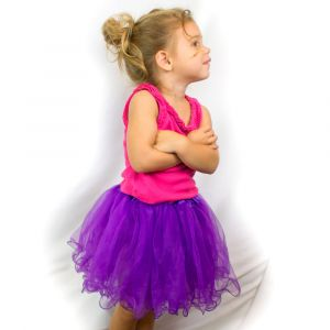 Little Girls Tutu Ruffle Edge 3-Layer (6 mo. - 3T)