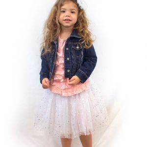 Little Girls Tutu 3-Layer Ballerina Sparkle (4 mo. - 3T)