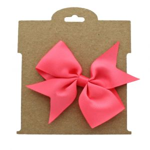 Kraft Brown Paper Hair-Bow Display Cards Large Bow