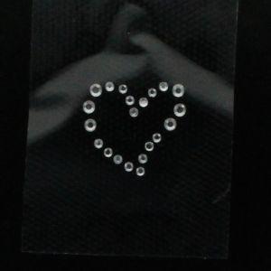 Hotfix Rhinestone Iron On Motif Small Heart - Black