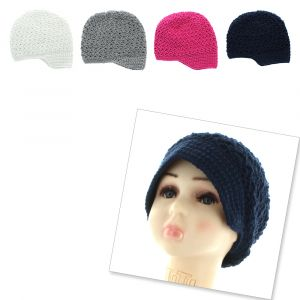 Crochet Newsboy Slouch Beanie Hat - Toddler