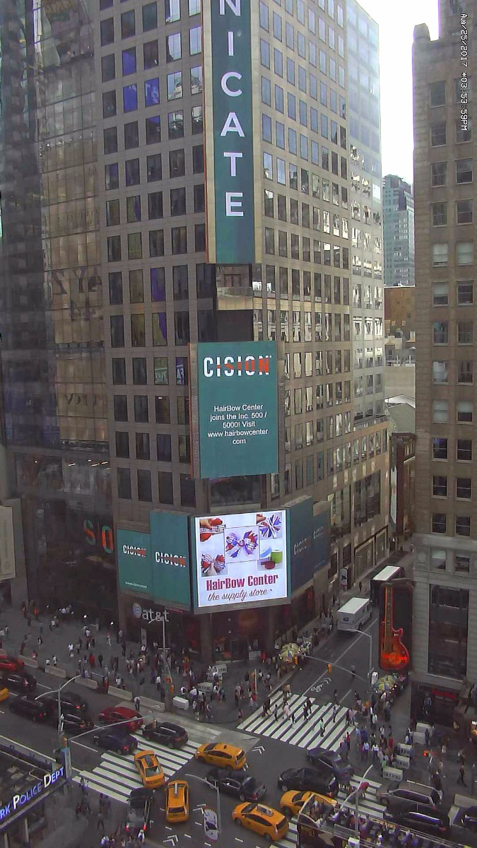 HBC displayed on Times Square mega-screen