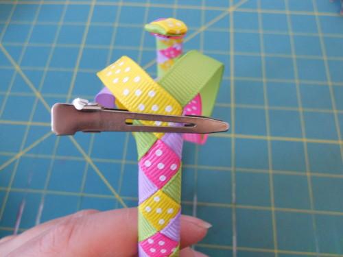 Woven Ribbon Headband Instructions - Step 12
